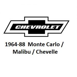 1964-88 Chevelle / Monte Carlo / Malibu