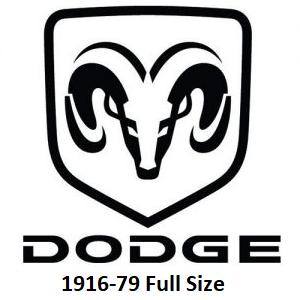 1916-78 Dodge Full Size